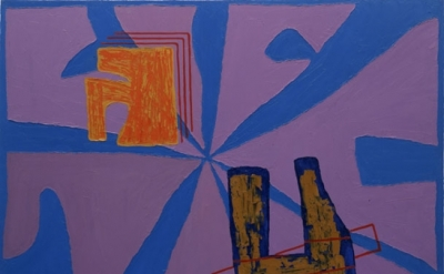 Jonathan Lasker, 3 Card Monte, Oil on canvas, 60×75 inches, 1984 (courtesy of th