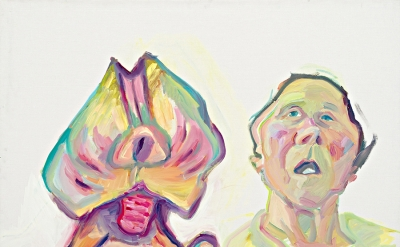 Maria Lassnig, Two species (double self-portrait), 2000 (courtesy of the artist