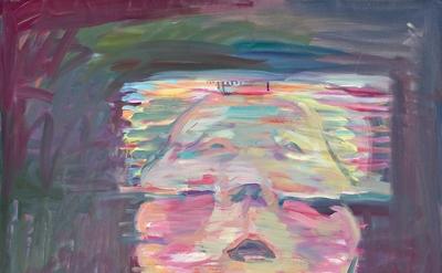 Maria Lassnig, Transparentes Selbstporträt, 1987, oil on canvas (courtesy of the