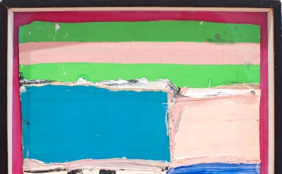 Alfred Leslie, Untitled, 1960, mixed media and collage on board, 7 7/8 x 10 1/2