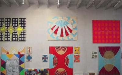 Margrit Lewczuk, Studio View (screen capture: Gorky's Granddaughter)