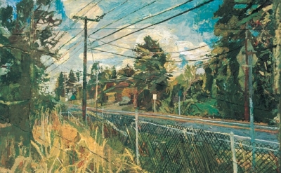 Stanley Lewis, North Gate (Chautauqua Inst.), 2002, oil on canvas, 33 x 42 inche