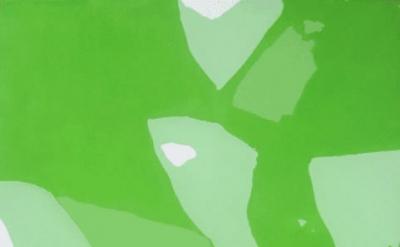 Robert Linsley, Green Ocean, 2011, enamel paint on canvas, 152 x 122cm (courtesy