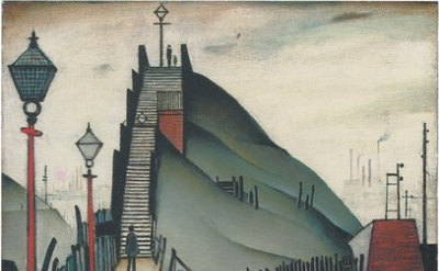 L.S. Lowry, A Footbridge, 21 x 17 inches, 1938 (Christie's Images - © Estate of