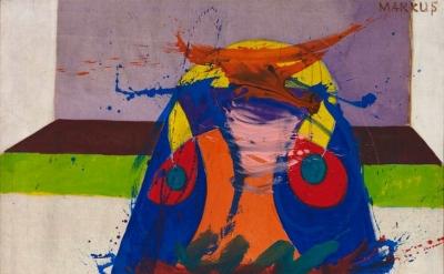 Markus Lüpertz, Donuald Ducks Hochzeit (Donald Duck's Wedding), 1963 (courtesy of the Hall Art Foundation/© the artist)