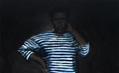 Lynette Yiadom-Boakye, 11 pm Friday, 2010, Oil on canvas, 200 x 130 cm (courtesy