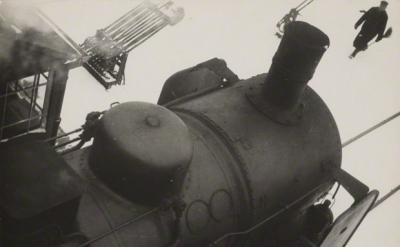 Lyonel Feininger, Untitled (Train Station, Dessau), 1928–29. Gelatin silver prin