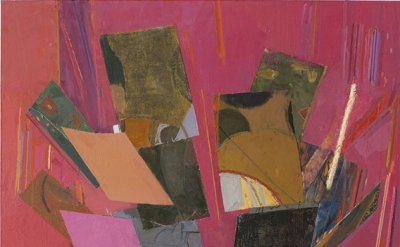 Sangram Majumdar, tilt, oil on linen, 66 x 48 inches, 2013 (courtesy of the arti