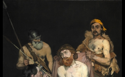 Edouard Manet, Jesus Mocked by the Soldiers, 1864–65, oil on canvas, 75 3/8 x 58
