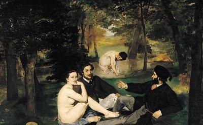 Eugène Manet, Le Déjeuner sur l'herbe, 1862–1863 (Musée d'Orsay)