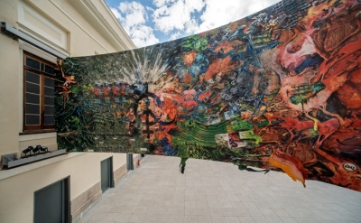 Fabian Marcaccio, Paintant Stories, 2000, installed at Casa Daros, Rio de Janeir