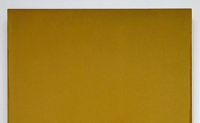 Joseph Marioni, Ochre Painting, 2004, Acrylic and linen on stretcher, 32 x 30 in
