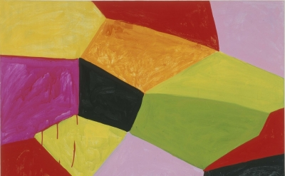 Mary Heilmann, Primalon Ballroom, 2002, Oil on canvas and wood, 50 x 40 inches,