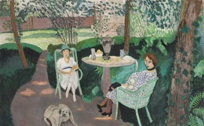 Henri Matisse, Tea in the Garden, 1919, Oil on canvas, 55 1/4 x 83 1/4 inches (L