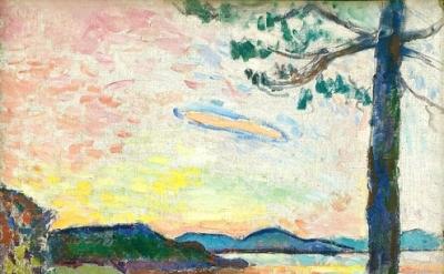 Henri Matisse, The Gulf of Saint-Tropez, 1904, oil on canvas, 25 5/8 x 19 7/8 in