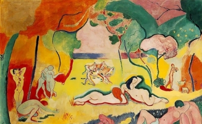 Henri Matisse, Le Bonheur de vivre, 1905-1906, oil on canvas, 69 1/2 x 94 3/4 in