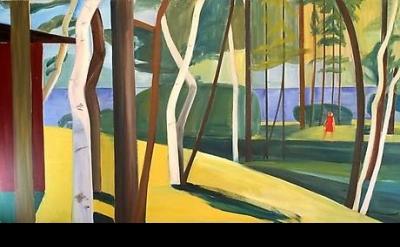 Louisa Matthiasdottir, Maine Landscape, c.1976, oil on canvas, 60 x 108 inches (