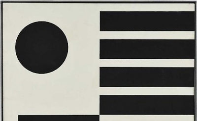 John McLaughlin, Untitled, 1951, oil on panel, 27 7/8 x 23 3/4 inches (courtesy