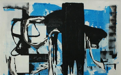 Andrea Medjesi–Jones, 2011, No More, acrylic and pigment on canvas, 170cm x 170c