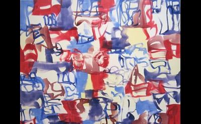 Melissa Meyer, Dassin, 2011, 80 x 78 inches, oil on canvas (courtesy Lennon, Wei