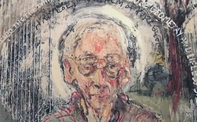 detail from a portrait of Jake Berthot by Sam Messer (screen capture: Gorky's Gr
