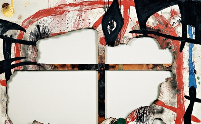 Burnt Canvas 4, December 4–31, 1973, acrylic on burnt canvas, 130 x 195 cm, Fund