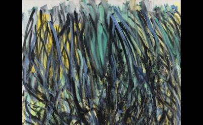 Joan Mitchell, Tilleul (Linden Tree) 1978, oil on canvas, 110 1/4 x 70 7/8 inche