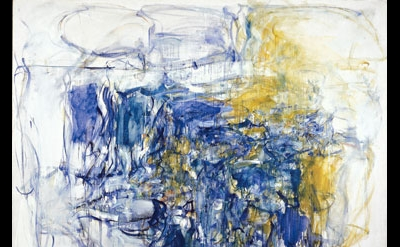 Joan Mitchell, Hudson River Day Line, 1955, oil paint on canvas, 79 × 83 inches