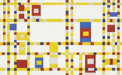 Piet Mondrian Broadway Boogie Woogie 1942-43, oil on canvas, 50 x 50 inches (Mus
