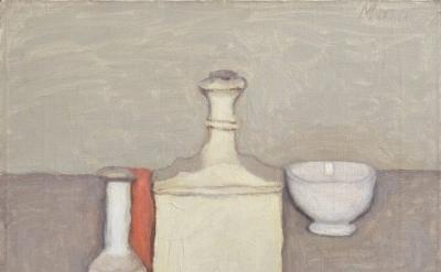 Giorgio Morandi, Natura Morta, 1957, oil, 14 x 16 inches