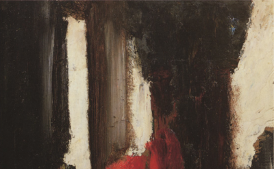 Gustave Moreau, Sketch D, 1880-1890, oil on cardboard, 18 1/2 x 12 1/2 inches (M