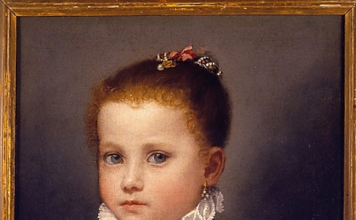 Giovanni Battista Moroni, Portrait of a Little Girl of the Redetti Family, c. 15