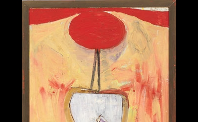 Robert Motherwell, The Red Skirt, 1947, From the Series, Personages, oil on comp