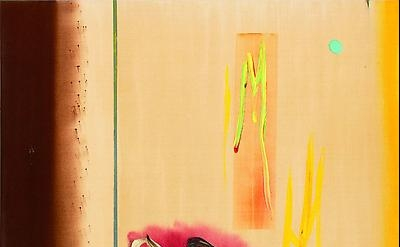 Stephen Mueller, Delphic Hymn 1989, acrylic, raw pigment and ink on canvas, 72 x
