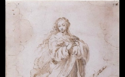 Bartolomé Esteban Murillo, The Immaculate Conception, pen and brown ink, brown w