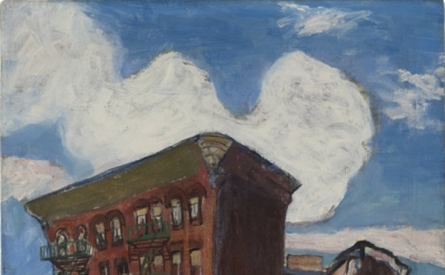 Alice Neel, Building in Harlem, ca. 1945, oil on canvas, 34 × 24 1/8 inche (© The Estate of Alice Neel)