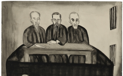 Alice Neel, Untitled (Katerina's Testimony), ca. 1938, 14 1/4 x 10 inches (© The