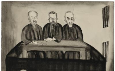 Alice Neel, Untitled (Katerina's Testimony), ca. 1938, 14 1/4 x 10 inches (© The