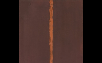 Barnett Newman, Onement, I, Oil on canvas and oil on masking tape on canvas, 27