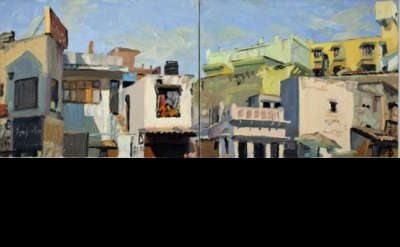George Nick, Haus Khas Village, Delhi-India, oil on canvas (photo: Nick Haus)