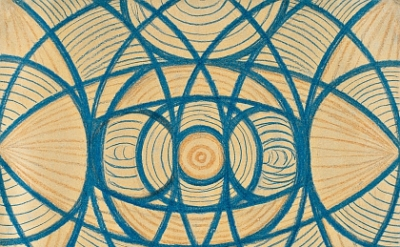 Vaslaw Nijinski, Untitled (Arcs and Segments: Lines), 1918-19, crayon and pencil