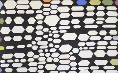 Thomas Nozkowski, Untitled #5, 2012, 4-plate aquatint with 22 colors (courtesy o