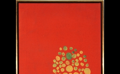 Jules Olitski, Shaker,1961, magna acrylic on canvas, 25 x 16 inches (courtesy Th