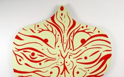 Craig Olson, Baba Yaga's Question, 2012, acrylic and phosphorescent pigment on w