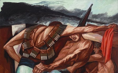 José Clemente Orozco, Barricade, 1931, oil on canvas, 55 x 45 inches ( The Museum of Modern Art, New York: Given anonymously, 468.1937  © VEGAP, Madrid, 2016)