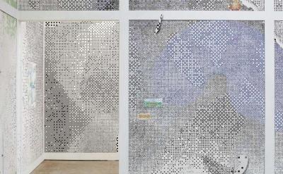 Installation view: Laura Owens: Ten Paintings at CCA Wattis Institute (photo: Jo