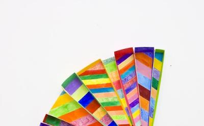Alex Paik, Radial 1, gouache, colored pencil, paper, 23 x 13 x 2 inches, 2013 (c