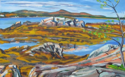 Hearne Pardee, Camden Hills, 1988, oil on canvas, 32 x 44 inches (courtesy of th