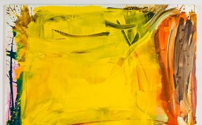 Carolanna Parlato, High Summer, 2012, acrylic and spray paint on canvas, 64 1/4