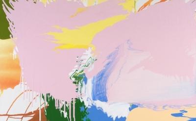 Carolanna Parlato, Coronal Loop, 2009, acrylic on canvas, 47 x 51 inches (courte